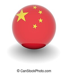 High resolution ball with flag of China