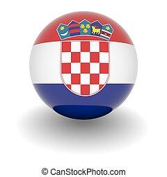 High resolution ball with flag of Croatia