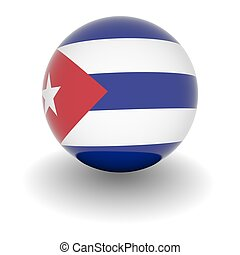 High resolution ball with flag of Cuba