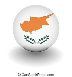 High resolution ball with flag of Cyprus - 3D Ball with Flag...