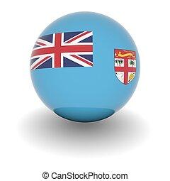 High resolution ball with flag of Fiji