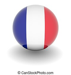 High resolution ball with flag of France