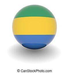 High resolution ball with flag of Gabon