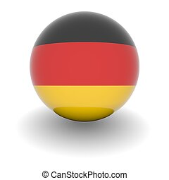 High resolution ball with flag of Germany