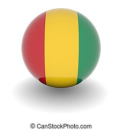 High resolution ball with flag of Guinea
