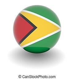 High resolution ball with flag of Guyana