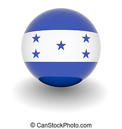 High resolution ball with flag of Honduras