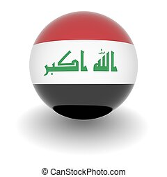 High resolution ball with flag of Iraq