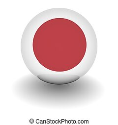 High resolution ball with flag of Japan