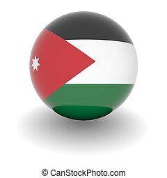 High resolution ball with flag of Jordan - 3D Ball with Flag...