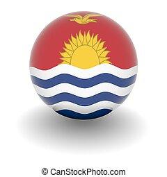High resolution ball with flag of Kiribati