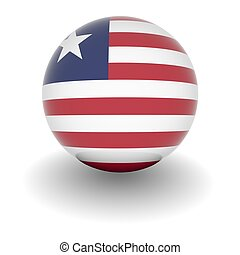 High resolution ball with flag of Liberia