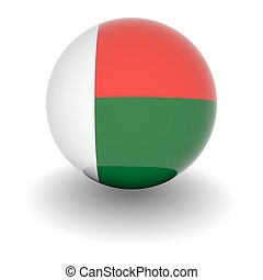High resolution ball with flag of Madagascar