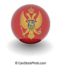 High resolution ball with flag of Montenegro
