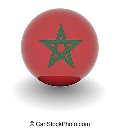 High resolution ball with flag of Morocco