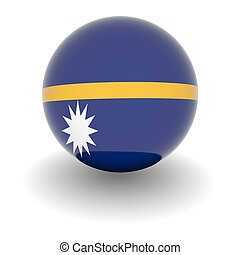 High resolution ball with flag of Nauro