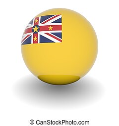 High resolution ball with flag of Niue