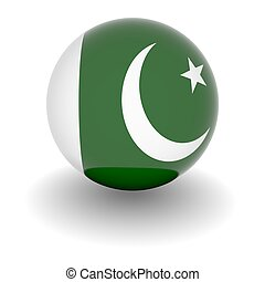 High resolution ball with flag of Pakistan