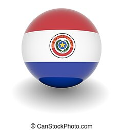 High resolution ball with flag of Paraguay