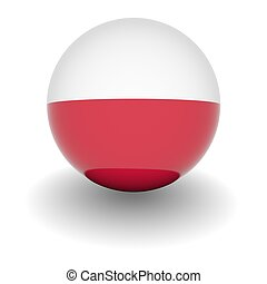 High resolution ball with flag of Poland