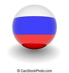 High resolution ball with flag of Russia