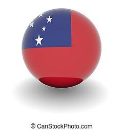 High resolution ball with flag of Samoa