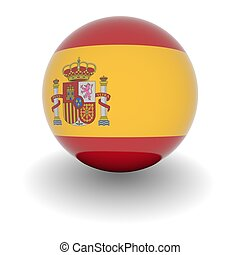 High resolution ball with flag of Spain