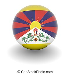 High resolution ball with flag of Tibet