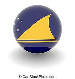 High resolution ball with flag of Tokelau