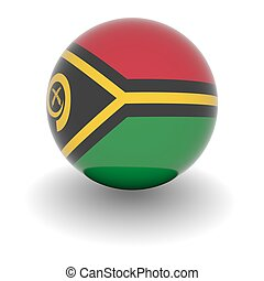 High resolution ball with flag of Vanautu