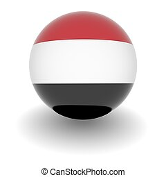 High resolution ball with flag of Yemen