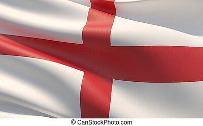 High resolution close-up flag of England. 3D illustration.