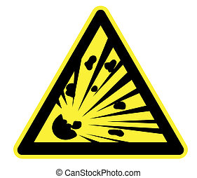 High Resolution Explosion Risk Yellow Warning Triangle