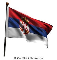 High resolution flag of Serbia - Flag of Serbia. High ...