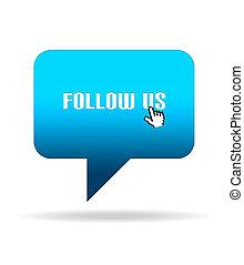 Follow Us Speech Bubble