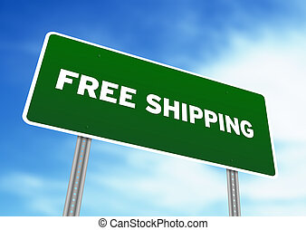 Free Shipping Highway Sign