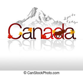 "Canada - High Resolution graphic of ""Canada\""."
