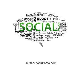 Social Media - High resolution graphic of Social Media...