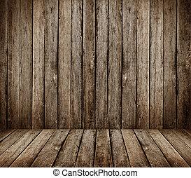 gray wooden room - High resolution gray wooden room