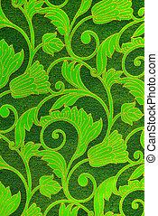 green  linen canvas