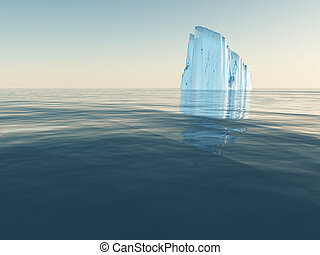 Iceberg in open sea