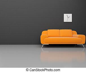 modern room - High resolution image. 3d rendered...