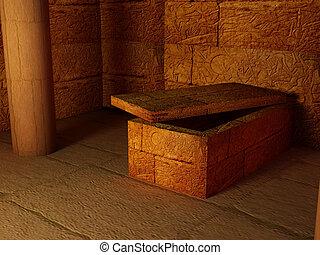 Egypt - High resolution image interior pyramid. Egyptian...