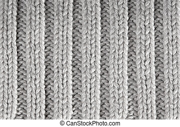 High Resolution knitted textured background - Gray knitted...