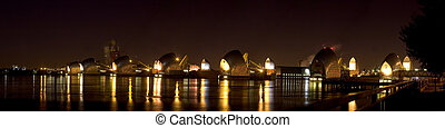 High Resolution Panorama of the Thames Barrier