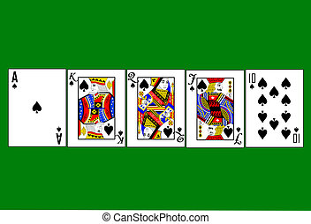 High resolution royal flush - High resolution vector of a...