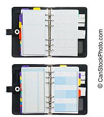 Organizer  Book  - High Resolution Set of Organizer  Book