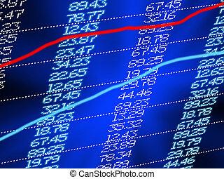 High resolution stock exchange evolution panel