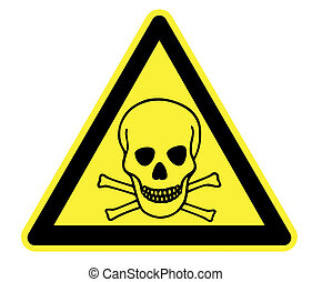 High Resolution Toxic Yellow Warning Triangle
