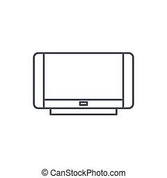 high resolution tv thin line icon. Linear vector symbol
